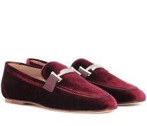 Exklusiv bei Mtheresa – Loafers Double T aus Samt