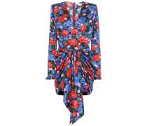 Minikleid Lesina aus Seiden-Jacquard