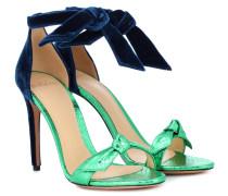 Sandalen Clarita aus Samt und Leder