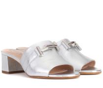 Sandalen Double T aus Leder