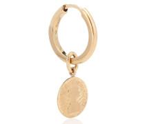 Einzelner Ohrring Louise d'Or Single Coin aus 14kt Gelbgold