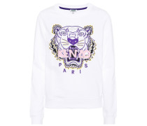 Sweatshirt Tiger mit Stickerei