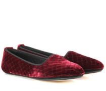 Slippers aus Intrecciato-Samt