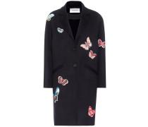 Verzierter Mantel aus Wolle und Cashmere