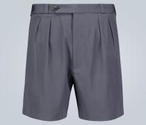 Bundfalten-Shorts aus Wolle