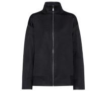 Jacke aus Wolle und Seide mit Stretchanteil