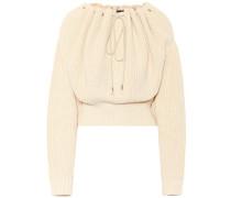 Off-Shoulder-Pullover aus Baumwolle
