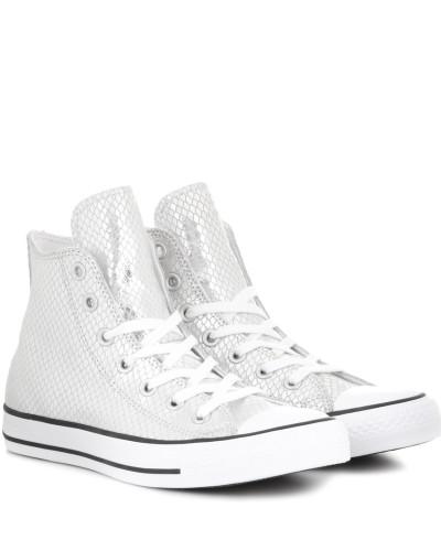 High-Top-Sneakers Chuck Taylor All Star aus Metallic-Leder