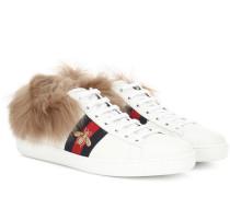 Sneakers Ace aus Leder mit Pelz
