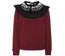 Pullover aus Baumwolle mit Spitze