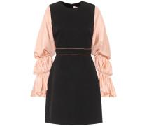 Kleid aus einem Seidengemisch mit Raffungen