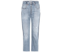 High-Rise Jeans Relaxed Exposed Zip