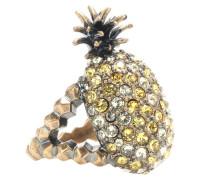 Ring Ananas mit Kristallen