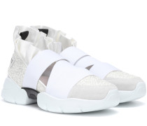 Sneakers mit Lederanteil und Glitter