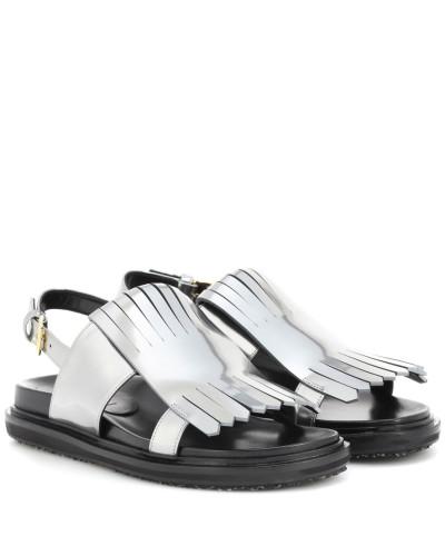 Marni Damen Sandalen aus Metallic-Leder Freies Verschiffen Das Preiswerteste YuSrHHQwhk