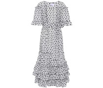 Bedrucktes Kleid January mit Rüschen