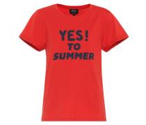 Bedrucktes T-Shirt Yes To Summer F aus Baumwolle