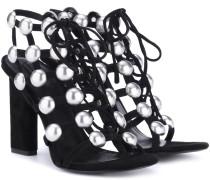 Sandalen aus Leder mit Verzierung