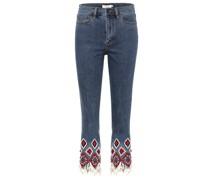 Verzierte Cropped Jeans