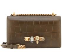 Alexander McQueen Verzierte Schultertasche aus Leder