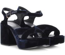 Plateau-Sandalen aus Samt