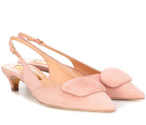 Slingback-Pumps Misty aus Veloursleder