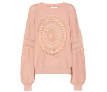 Verzierter Pullover mit Baumwollanteil