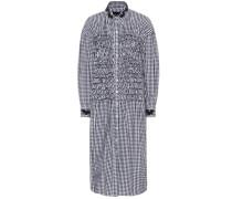 Kariertes Kleid aus Baumwolle