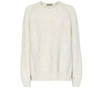 Pullover aus Wolle mit Metallic-Garn