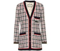 Karierte Jacke aus Tweed
