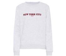 Bedrucktes Sweatshirt N.Y.C. aus Baumwolle