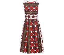 Bedrucktes Kleid aus Wolle und Seide