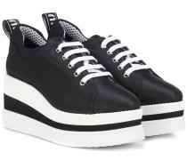 Plateau-Sneakers aus Satin