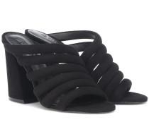 Sandalen Izzie High aus Veloursleder