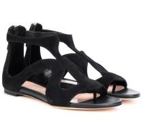 Alexander McQueen Sandalen aus Veloursleder