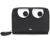 Portemonnaie Small Zip Round Eye aus Leder