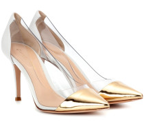 Pumps Plexi 85 aus Metallic-Leder