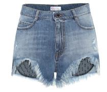 Jeansshorts mit Tüll