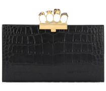 Clutch Skull Four-Ring aus Leder