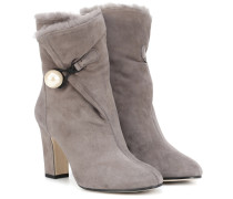 Ankle Boots Bethanie 85 aus Veloursleder