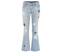 Flared Jeans aus Stretch-Denim