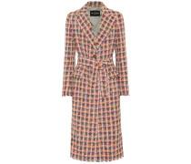 Karierter Mantel aus Tweed