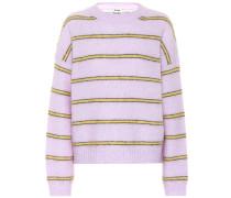 Pullover mit Woll- und Mohairanteil