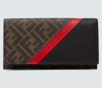 Logo-Portemonnaie mit Leder