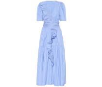 Langes Wickelkleid aus Baumwolle