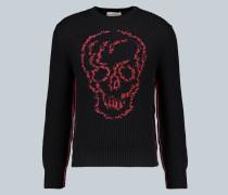 Totenkopf-Pullover aus Baumwolle