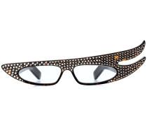 Brille mit Kristallverzierung