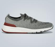 Sneakers aus Baumwollstrick