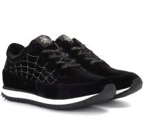 Plateau-Sneakers Work It aus Samt