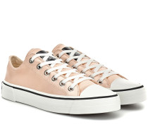Sneakers Grunge aus Satin